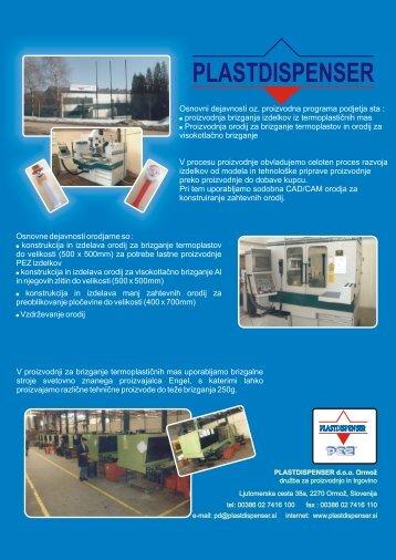 Osnovni dejavnosti oz. proizvodna programa ... - made-in-styria