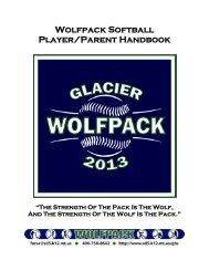 2013 Wolfpack Softball Handbook - Kalispell School District 5