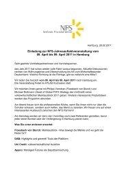 Einladung zur NFS-Jahresauftaktveranstaltung vom 08. April bis 09 ...