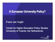 A European University Policy? - CERTH, The Centre for Research ...