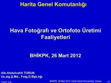 Ortofoto - Harita Genel Komutanlığı