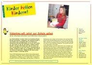 KhK Bericht 07 Albanien - Kinder helfen Kindern