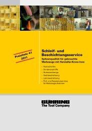 Schleif- und Beschichtungsservice - Gühring oHG