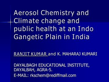 AEROSOLS ITS IMPACT ON CLIMATE CHANGE AT ASITE IN INDO ...