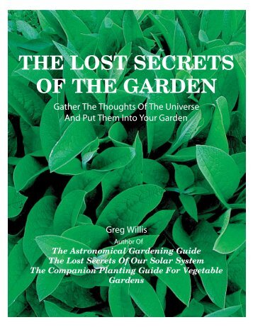 THE LOST SECRETS OF THE GARDEN