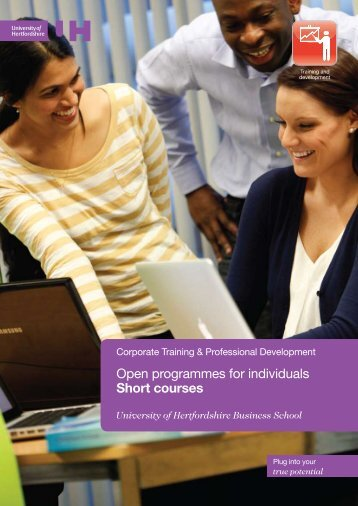 View the short courses brochure (PDF - 0.67 Mb) - University of ...