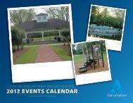 2013 EVENTS CALENDAR - City of Auburn