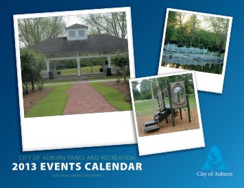 2013 EVENTS CALENDAR - City of Auburn