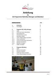 Anleitung - Regionaler Volleyballverband Aargau