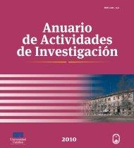 Anuario de Actividades de Investigación - Universidad Católica del ...