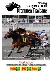 mandag 12. august - Drammen Travbane