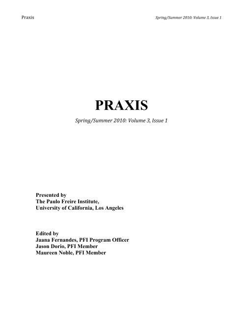 Praxis Paulo Freire Institute