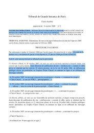 Tribunal de Grande Instance de Paris - Globenet