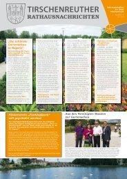 Rathausnachrichten Ausgabe 14 - Tirschenreuth