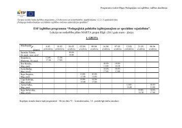 Programmu realizē Rīgas Pedagoģijas un izglītības vadības ... - rpiva