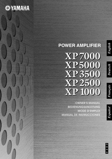 XP7000 Owner's Manual - Sonic Sense Sonic Sense