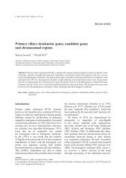 Primary ciliary dyskinesia: genes, candidate genes - Journal of ...
