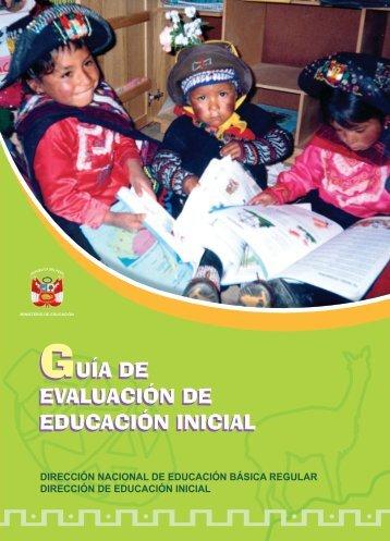 Guía de Evaluación de Educación Inicial - Ministerio de Educación
