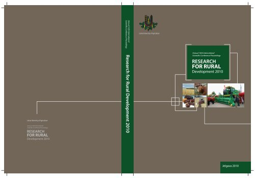 Annual 16th Isc Research For Rural Development 2010 Volume 1