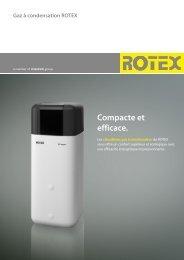Gaz à condensation ROTEX Compacte et efficace. - Av2l.fr