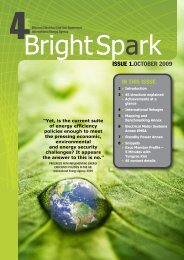 Bright Spark Issue 1, October 2009 - 4E - Efficient Electrical End-Use ...