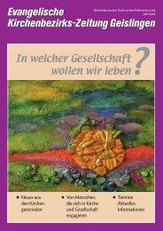 Evangelische Kirchenbezirks-Zeitung ... - Kirchenbezirk Geislingen