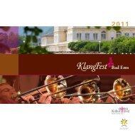 Programmheft KlangFest Bad Ems 2011