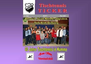 Ticker Heft 5 - TSV 03 Hümme