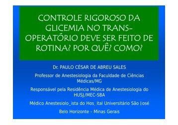 glicemia - Faculdade de Ciências Médicas de Minas Gerais