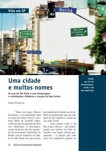Uma cidade e muitos nomes - Governo do Estado de São Paulo