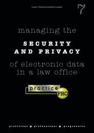 Managing the security and privacy of electronic data - practicePRO.ca