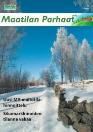 Maatilan Parhaat info 3 / 2004 - Snellman