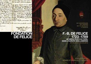B. de Felice. - Université de Lausanne