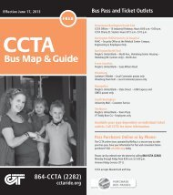 Bus Map & Guide - CCTA
