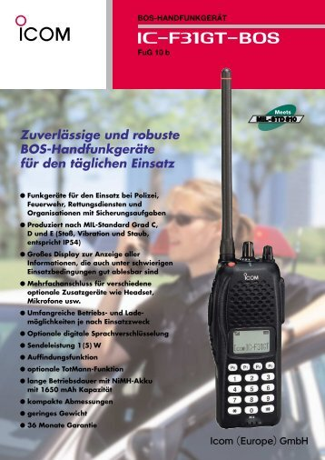 Zuverlässige und robuste BOS-Handfunkgeräte für den täglichen ...