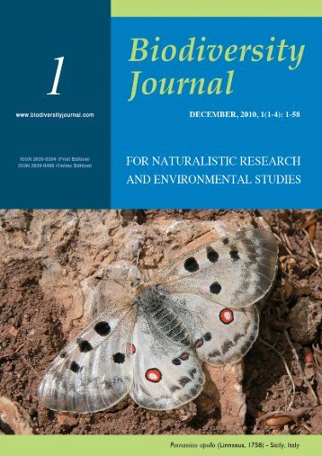 Muscarella C., 2010. Parnassius apollo - Biodiversity Journal