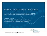 MAINE'S OCEAN ENERGY TASK FORCE