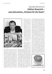 """Edition Stoareich – zwei Jahrzehnte """"Feinkost für die Seele"""""""