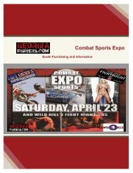 Combat Sports Expo - Georgia Fighters