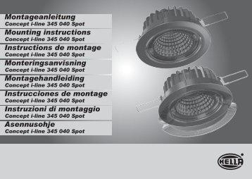 Mounting instructions Monteringsanvisning ... - Taloon.com