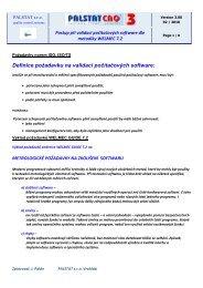 Definice požadavku na validaci počítačových software
