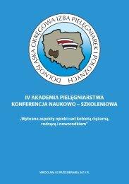 IV AKADEMIA PIELĘGNIARSTWA - Dolnośląska Okręgowa Izba ...