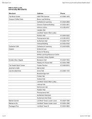 Merchant List - Panther Central