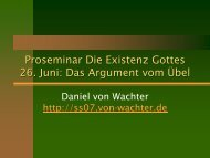 Theodizee - Daniel von Wachter