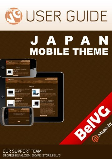 Japan Mobile Theme User Guide - BelVG Magento Extensions Store