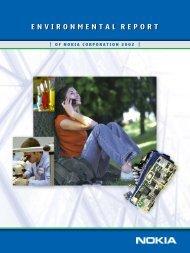 Nokia Environmental Report 2002
