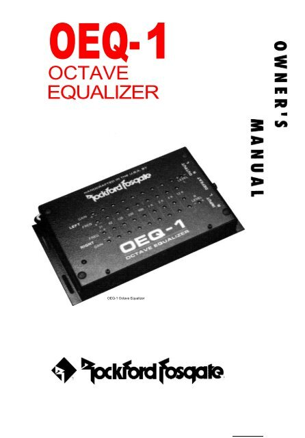 OEQ-1 Octave Equalizer Owner's Manual