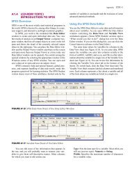 A1.4 (CD-ROM TOPIC) INTRODUCTION TO SPSS