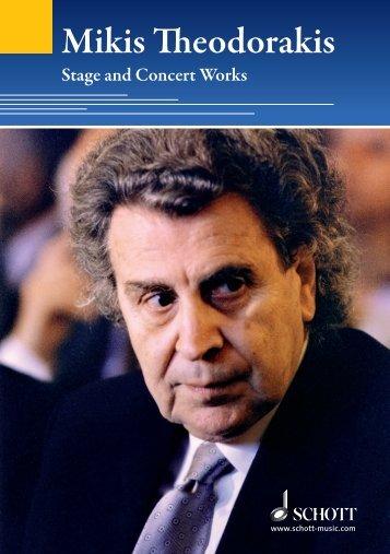 Mikis Theodorakis - Schott Music