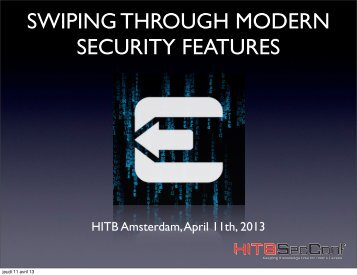 swiping through modern security features - Reverse Engineering ...